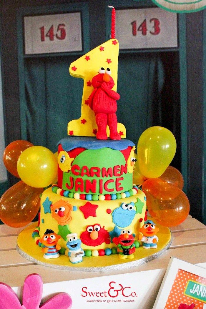 Karas Party Ideas Adorable Sesame Street themed birthday party – Sesame Street 1st Birthday Invitations