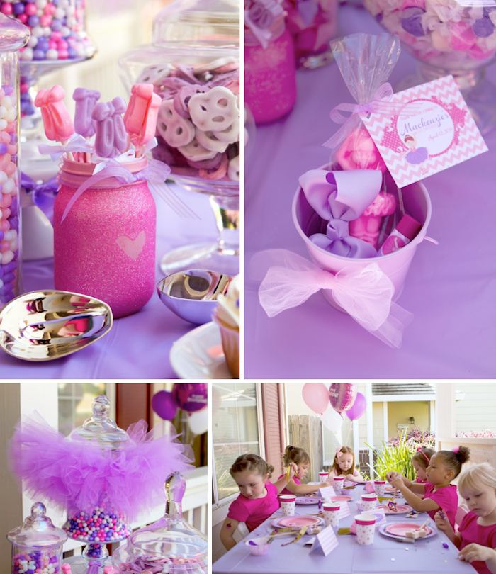 Kara S Party Ideas Ballerina Ballet Themed Birthday