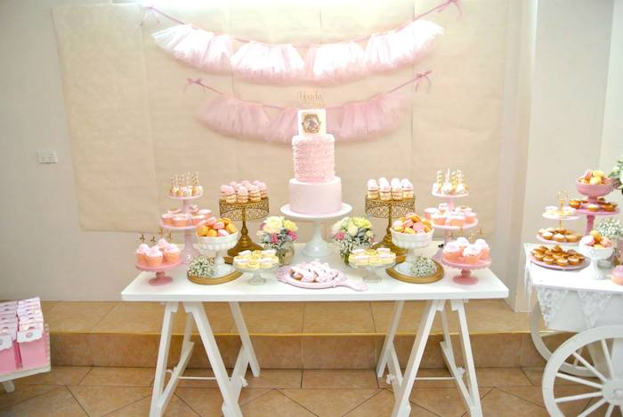 Kara 39 s party ideas ballerina themed birthday party via for Ballerina party decoration