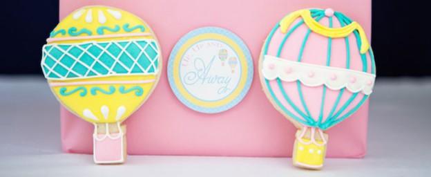 Hot Air Balloon themed baby shower via Kara's Party Ideas KarasPartyIdeas.com Cake, cupcakes, printables, supplies, favors, recipes, and more! #hotairballoons #babyshowerideas #karaspartyideas #partyplanning (1)