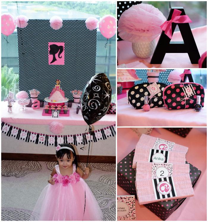 Karas Party Ideas Barbie themed birthday party via Karas Party
