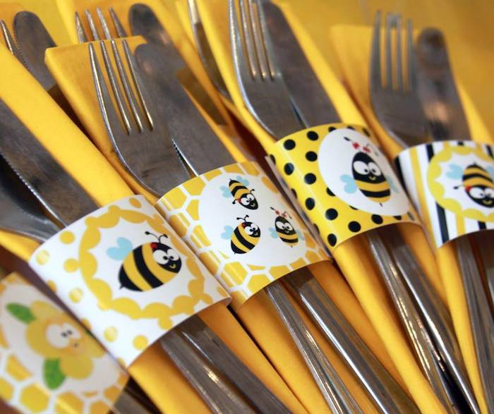 Bee Themed Birthday Party Via Karas Ideas KarasPartyIdeas Cakes Cupcakes Recipes