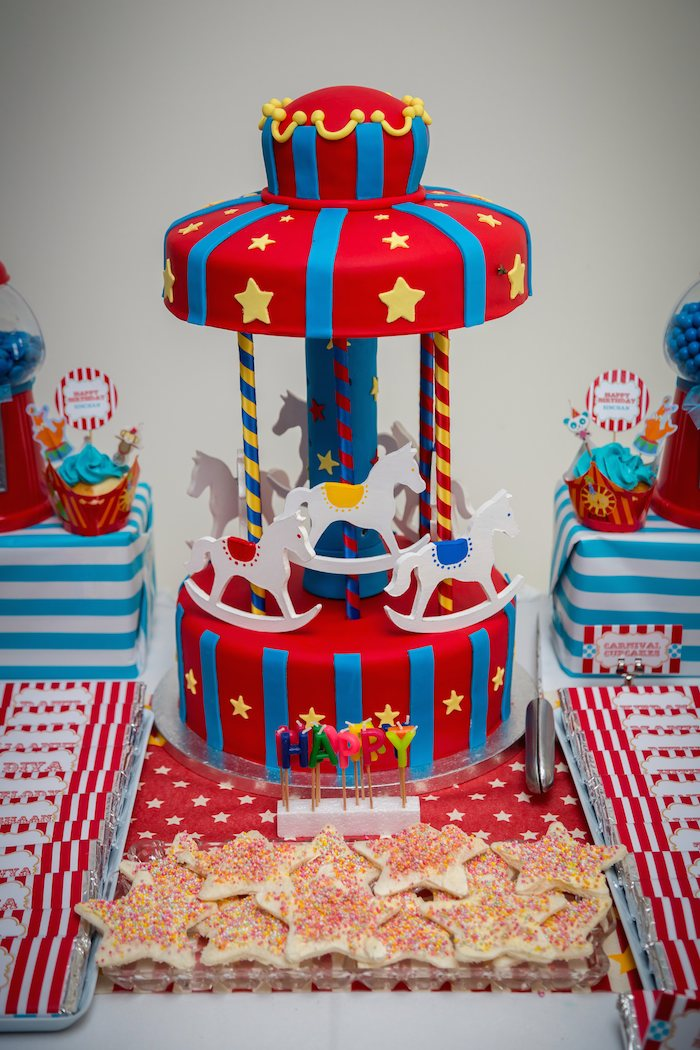 Kara 39 s party ideas circus carnival themed birthday party via kara 39 s party ideas - Carnival theme party for adults ...