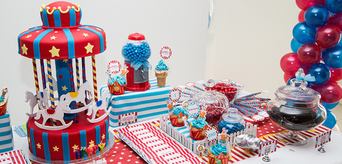 Kara S Party Ideas Circus Carnival Themed First Birthday