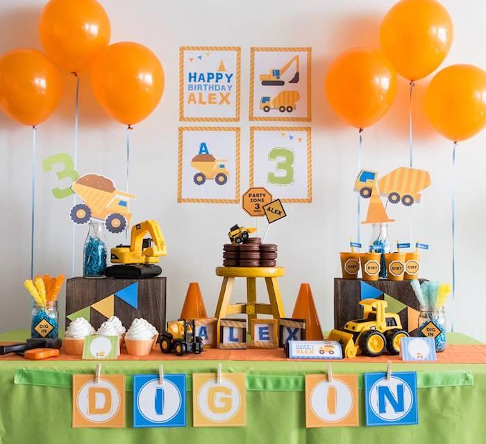 Karas Party Ideas Construction themed birthday party via Karas – Bob the Builder Party Invitations