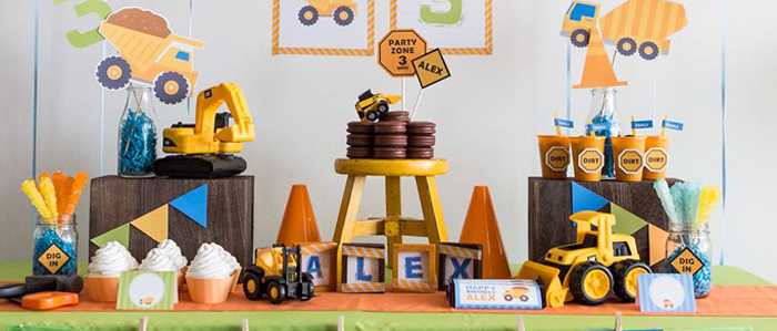 Kara S Party Ideas Construction Themed Birthday Party