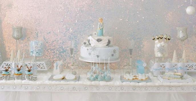 kara s party ideas elegant frozen birthday party planning