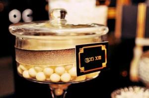 Great Gatsby themed birthday party via Kara's Party Ideas KarasPartyIdeas.com Cakes, printables, favors, desserts, and MORE! #thegreatgatsby #adultbirthdayparty #karasoartyideas (8)