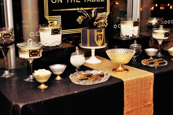 Kara 39 s party ideas great gatsby themed birthday party via for Great party ideas for adults