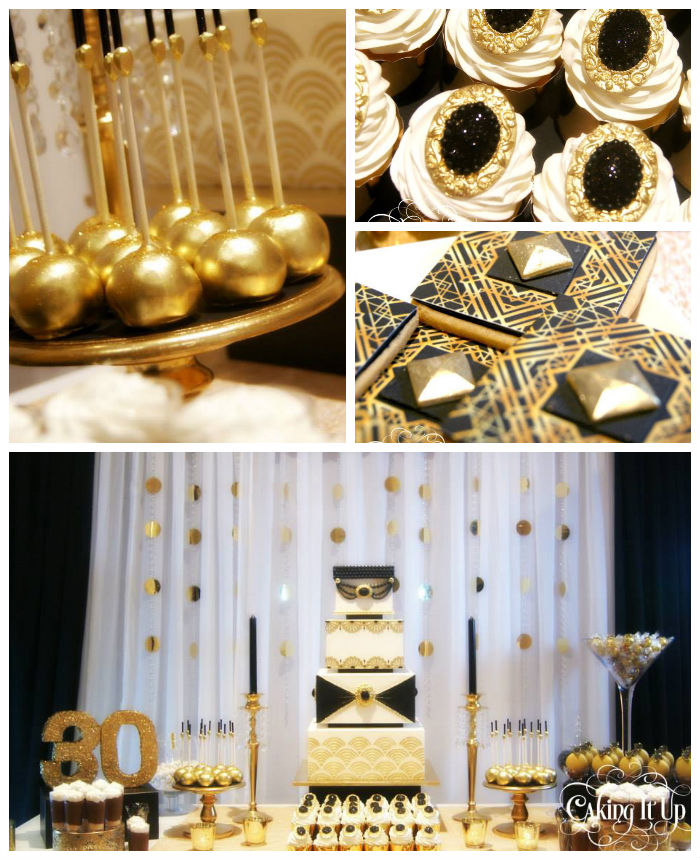 Kara 39 s party ideas great gatsby themed birthday party via for 30th birthday party decoration ideas for men