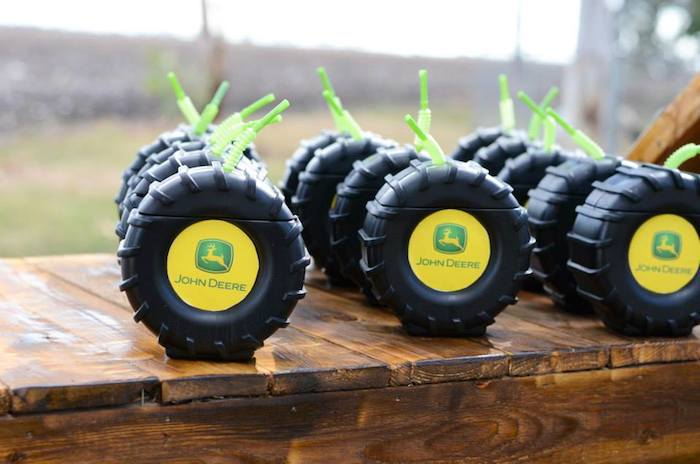 Karas Party Ideas John Deere Farm themed birthday party via
