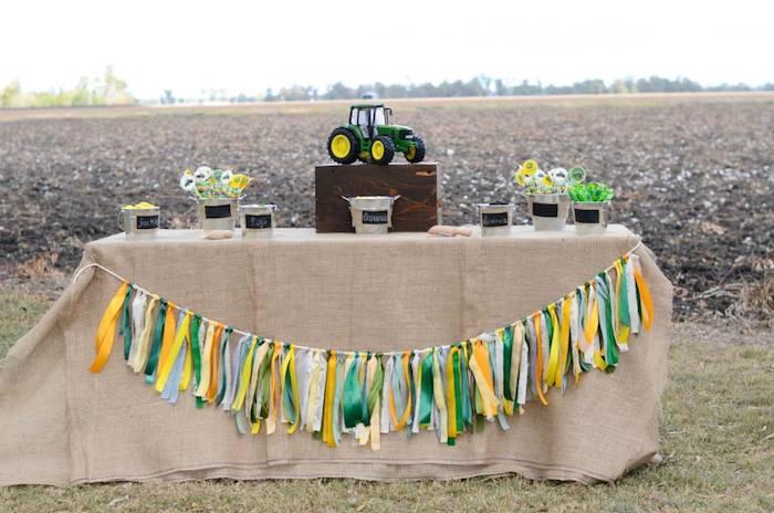 John Deere Farm Themed Birthday Party Via Karas Ideas KarasPartyIdeas Johndeere