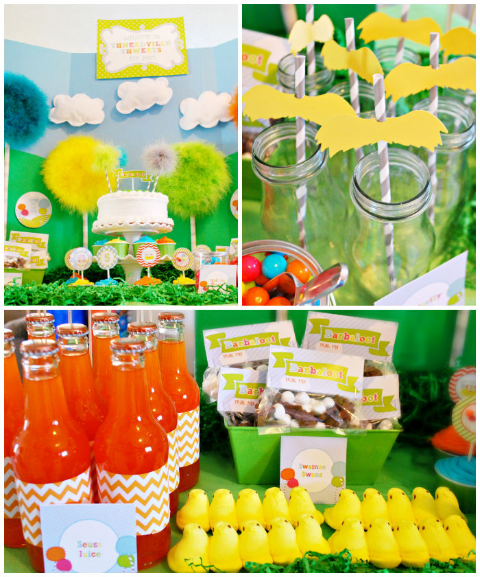 Kara 39 s party ideas the lorax themed 5th birthday party via for 5th birthday decoration ideas