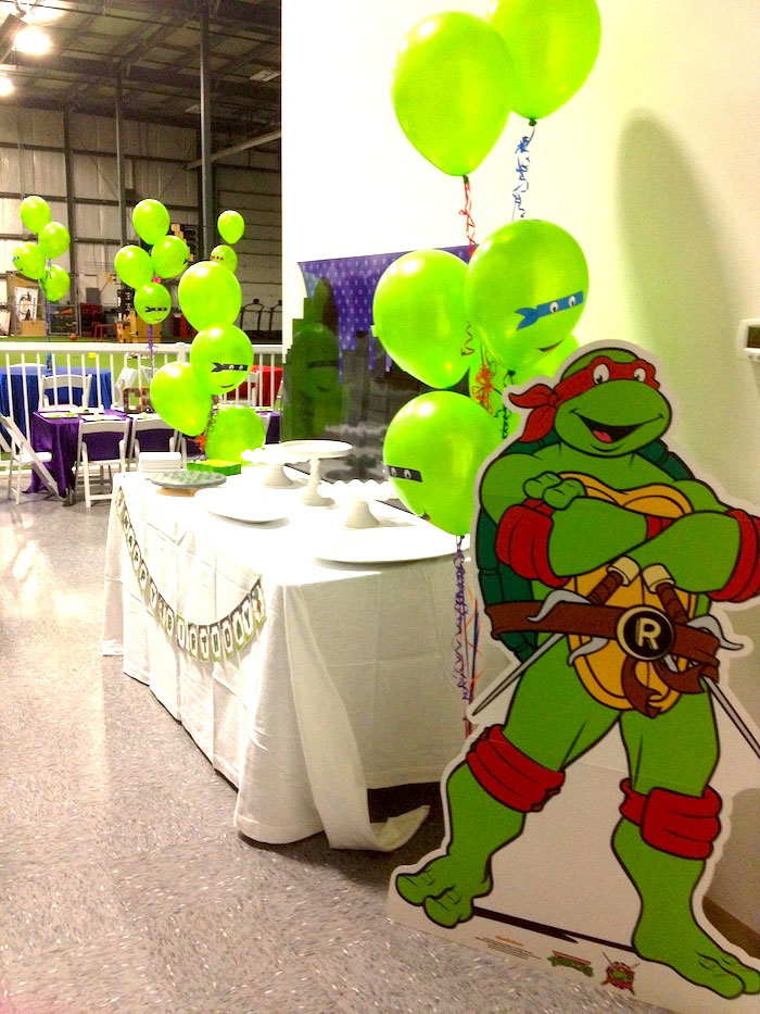 Karas party ideas ninja turtles themed birthday party via ninja turtles themed birthday party via karas party ideas karaspartyideas printables cakes solutioingenieria Images