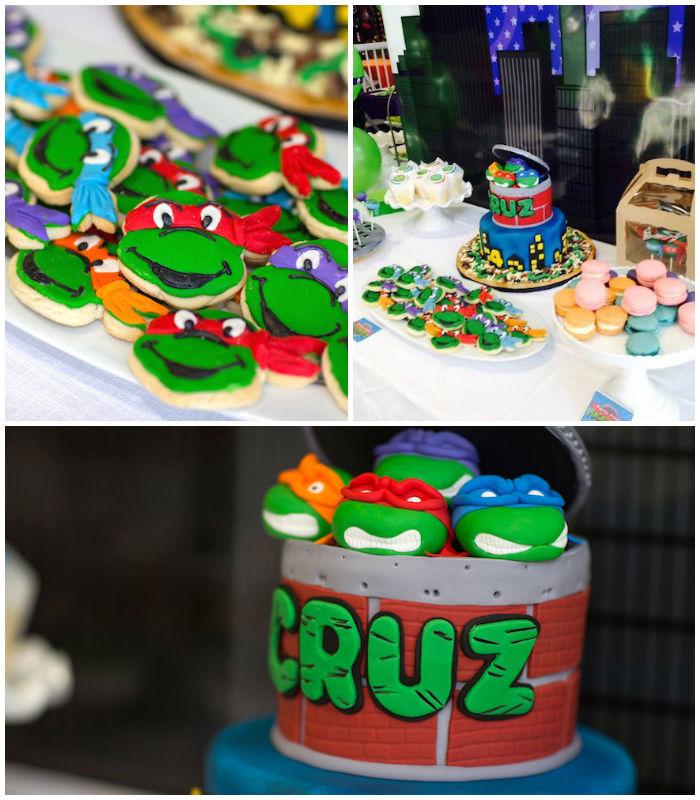 Karas Party Ideas Ninja Turtles themed birthday party via Karas – Ninja Turtle Party Invitation Ideas