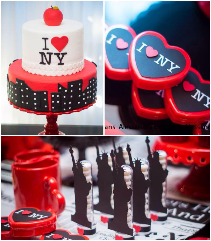 Kara 39 s party ideas new york city bridal shower via kara 39 s for New york city decor