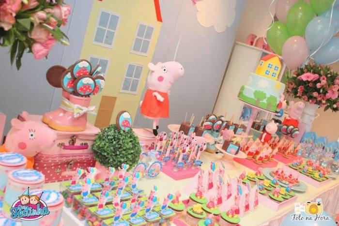 Kara S Party Ideas Peppa Pig Themed Birthday Party Via