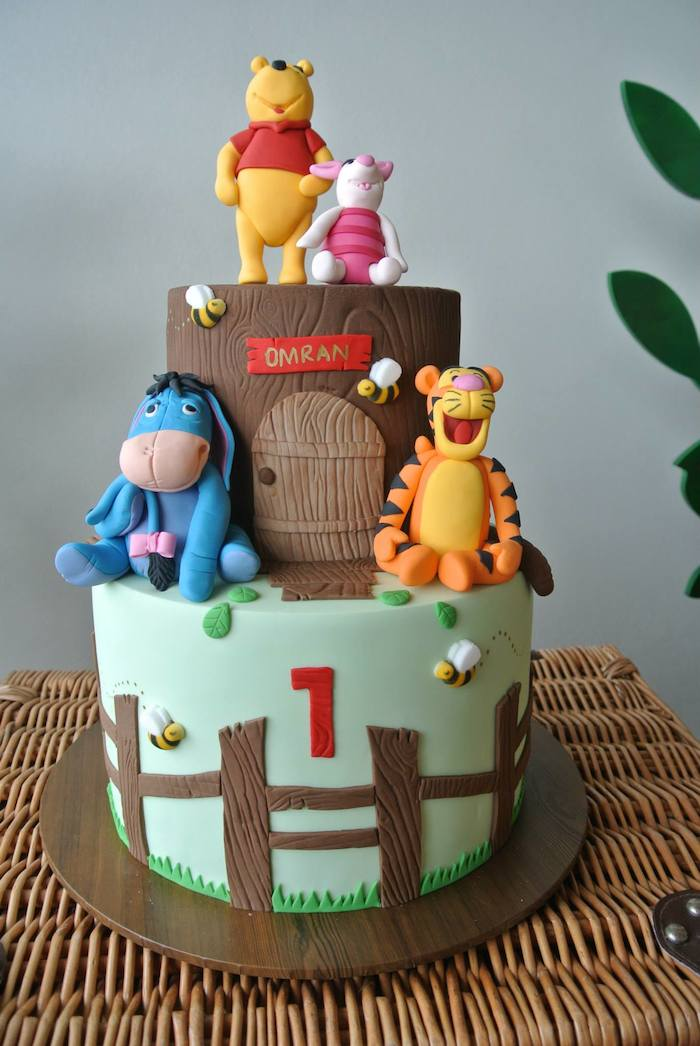 Rustic Winnie The Pooh 1st Birthday Party Via Karas Ideas KarasPartyIdeas Winniethepooh