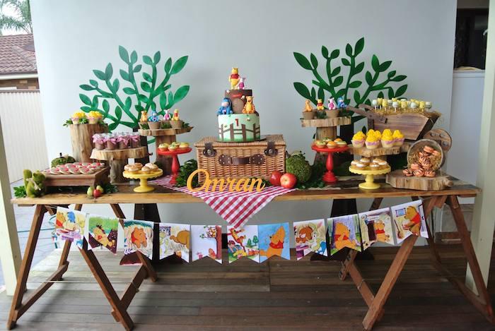 Party Ideas Rustic Winnie the Pooh 1st birthday party via Karas Party ...