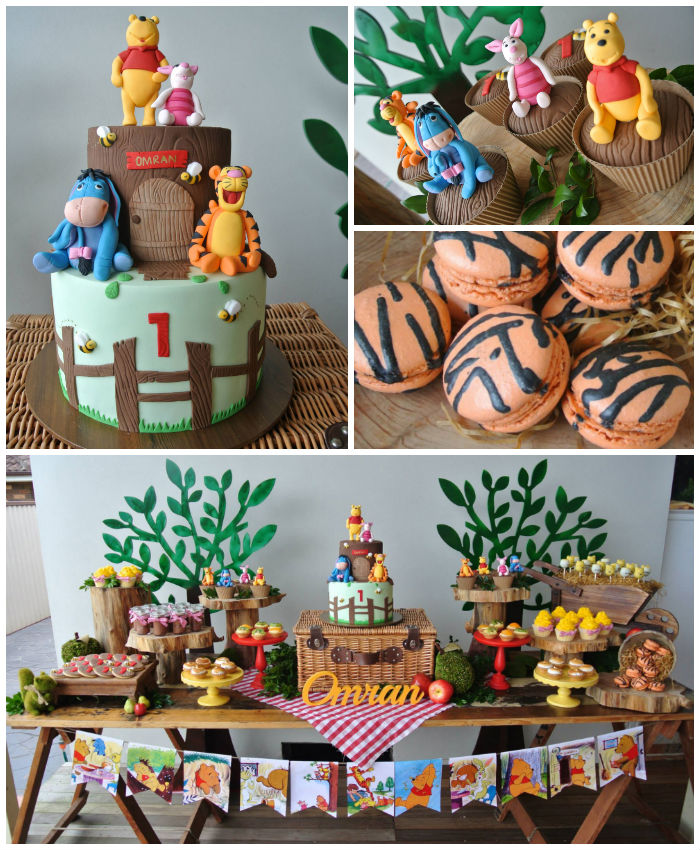 Karas Party Ideas Rustic Winnie the Pooh 1st birthday party via