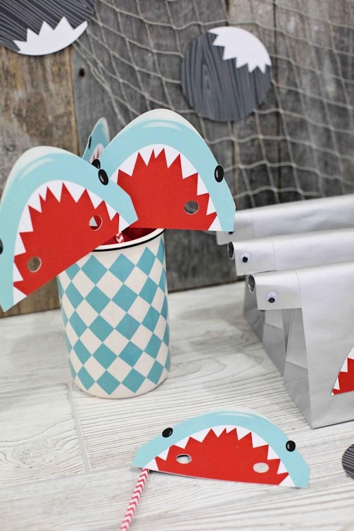 Kara S Party Ideas Shark Themed Birthday Party Via Kara S