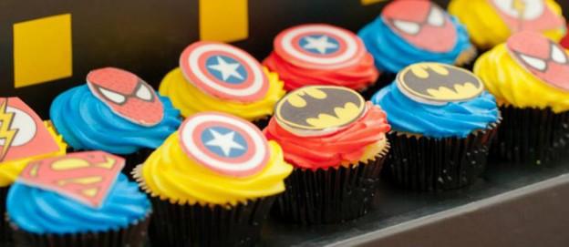 Superhero themed birthday party vis Kara's Party Ideas KarasPartyIdeas.com Cakes, favors, printables, decor, and MORE! #superheroparty #karaspartyideas (1)