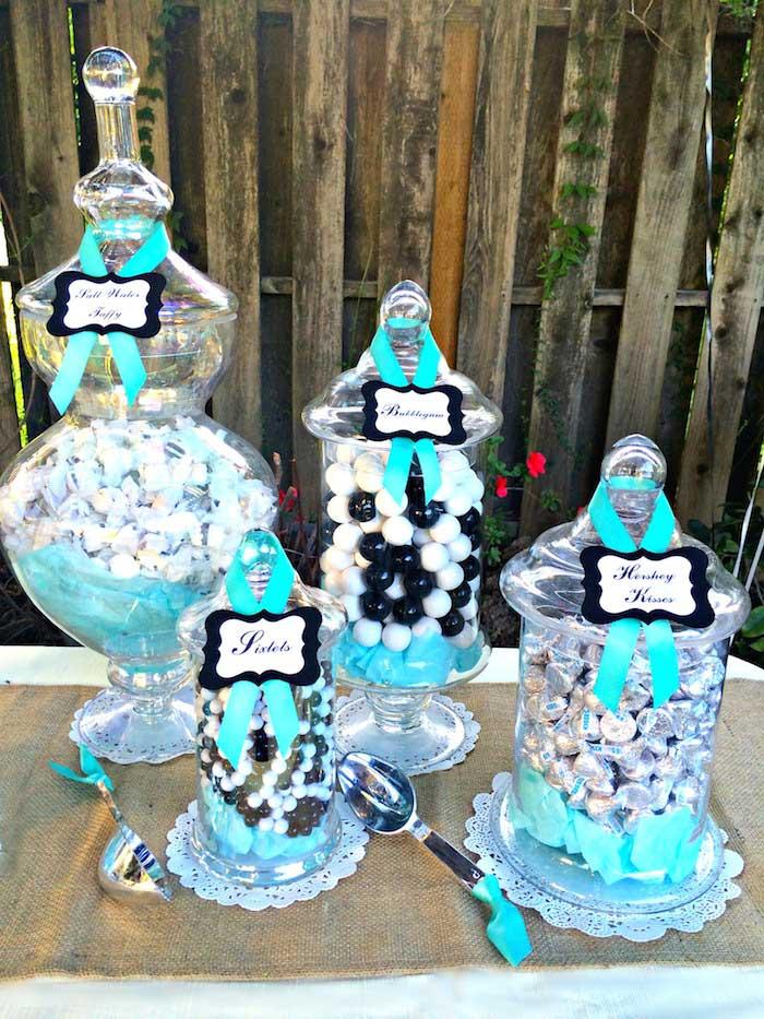 Kara\'s Party Ideas Rustic Black, White, & Tiffany Blue Wedding via ...