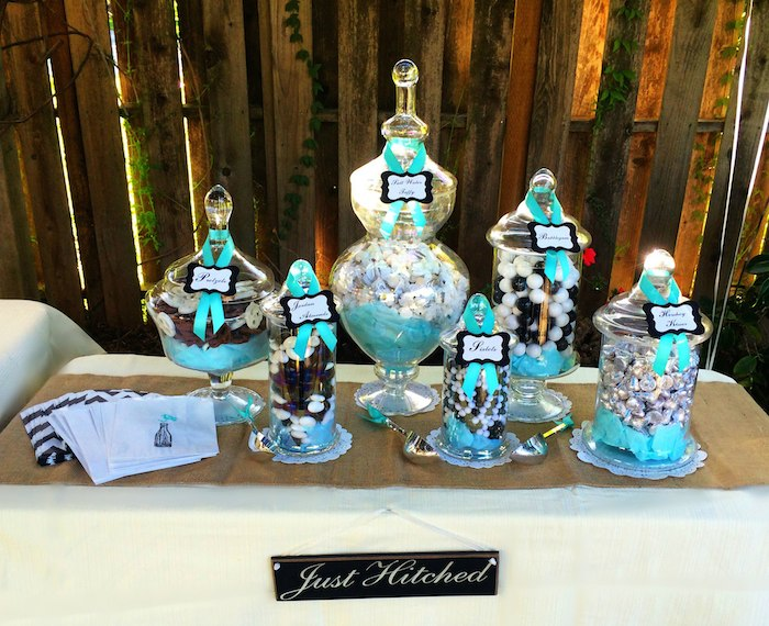 Rustic Black White Tiffany Blue Wedding Via Karas Party Ideas KarasPartyIdeas