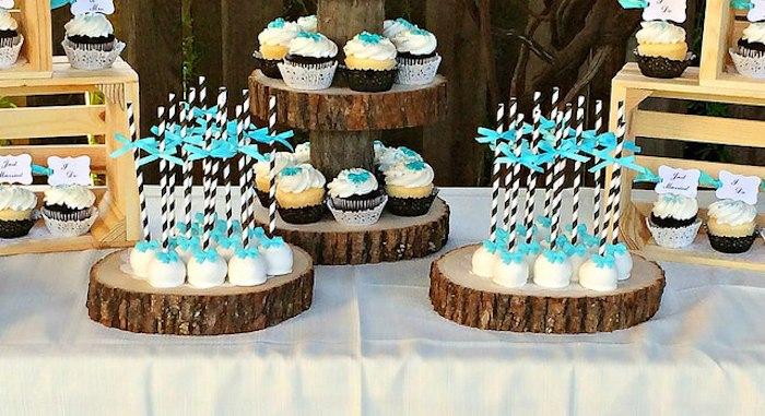 Rustic Black White Tiffany Blue Wedding Via Kara S Party Ideas Karaspartyideas