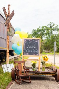 Vintage Train themed birthday party via Kara's Party Ideas KarasPartyIdeas.com Printables, favors, games, invitations, and MORE! #trainparty #vintagetrain #partyideas #partydecor (6)