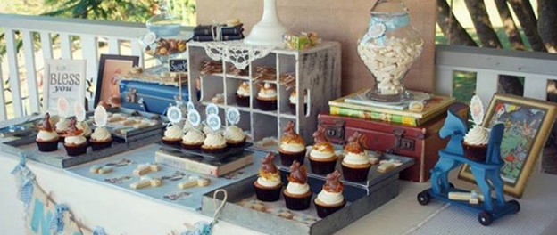 Vintage Christening + Baby Blessing Party via Kara' s Party Ideas KarasPartyIdeas.com Cakes, favors, cupcakes, games, and more! #vintageparty #babychristening #karaspartyideas (1)
