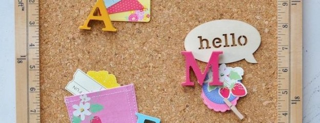 Back to school diy craft project- cork bulletin board gift! Via Kara Allen KarasPartyIdeas.com | Kara's Party Ideas for Michaels #create2educate #michaels