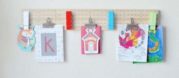 DIY Back To School Yardstick Craft Project. Paper + Artwork Board via Kara Allen | Kara's Party Ideas | KarasPartyIdeas.com for Michaels #michaelsmakers 13