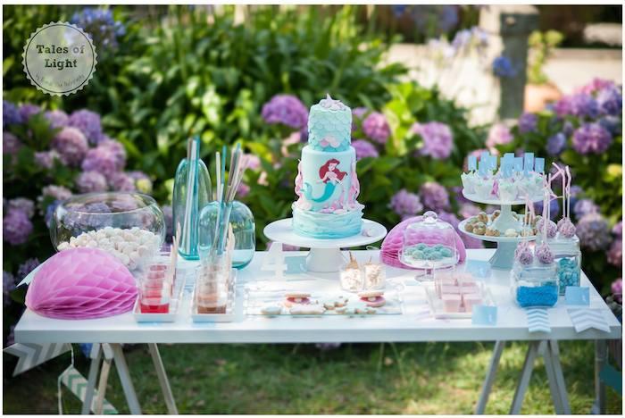 Kara 39 s party ideas ariel little mermaid themed birthday for Ariel decoration party