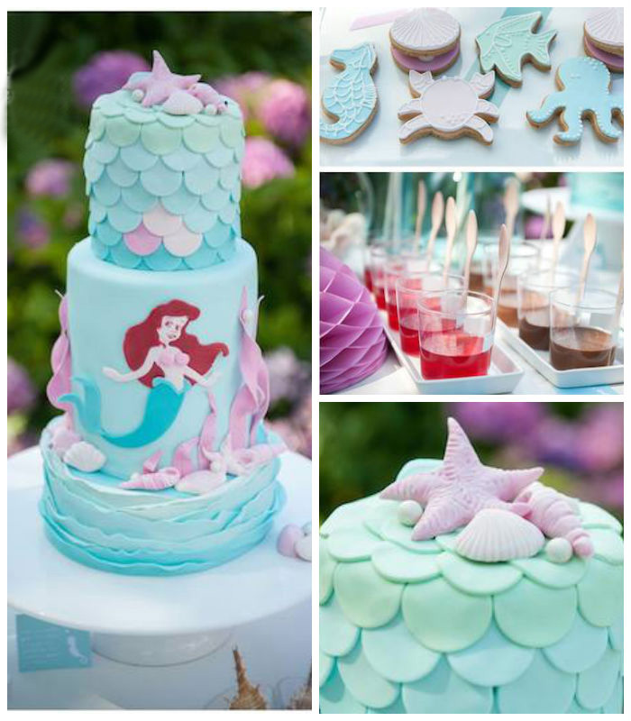 Karas Party Ideas Ariel Little Mermaid themed birthday party