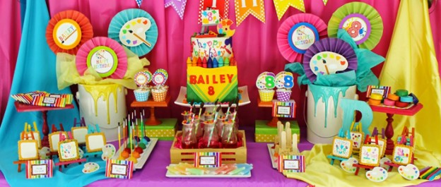 Art themed 8th birthday party via Kara's Party Ideas KarasPartyIdeas.com Printables, cake, decor, cupcakes, desserts, invitation, etc! #artparty #paintingparty #karaspartyideas (2)