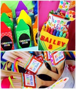 Art themed 8th birthday party via Kara's Party Ideas KarasPartyIdeas.com Printables, cake, decor, cupcakes, desserts, invitation, etc! #artparty #paintingparty #karaspartyideas (1)