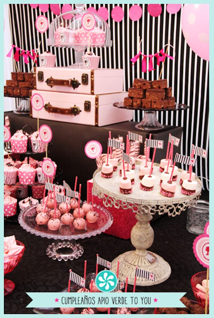 Barbie Themed Birthday Party Via Karas Ideas KarasPartyIdeas Cake Decor Cupcakes