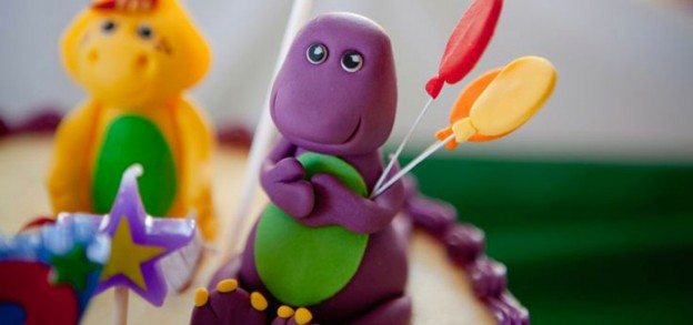 Barney themed birthday party via Kara's Party Ideas KarasPartyIdeas.com Printables, cake, decor, tutorials, recipes, cupcakes, etc! #barney #barneyandfriends #barneyparty (2)