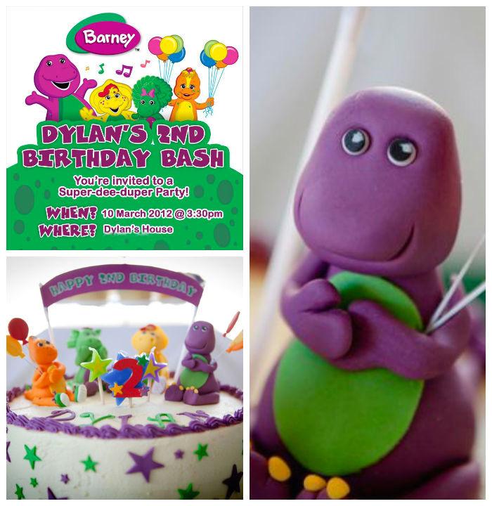 Barney Themed Birthday Party Via Karas Ideas KarasPartyIdeas Printables Cake Decor