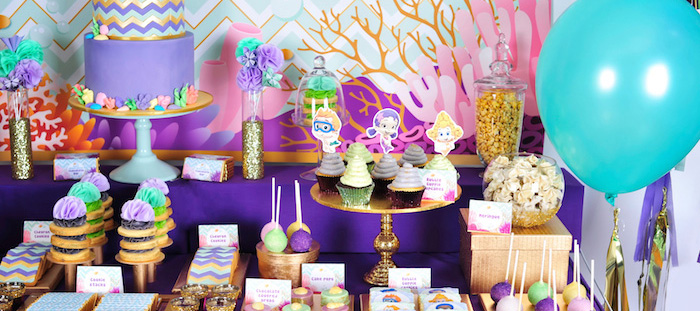 Kara 39 s party ideas bubble guppies inspired birthday party via kara 39 s party ideas karaspartyideas - Bubble guppie birthday ideas ...