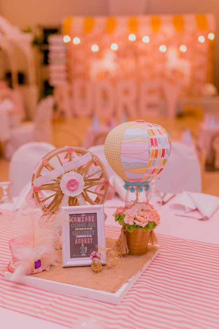 Kara S Party Ideas Pastel Vintage Carnival Themed Birthday