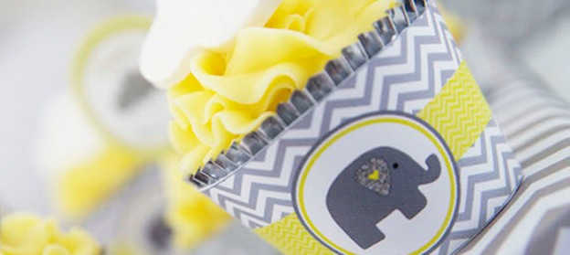 Grey Elephant themed baby shower via Kara's Party Ideas KarasPartyIdeas.com Printables, cake, decor, tutorials, recipes, cupcakes, favors, and more! #elephantparty #greyelephant #elephantbabyshower #karaspartyideas (2)
