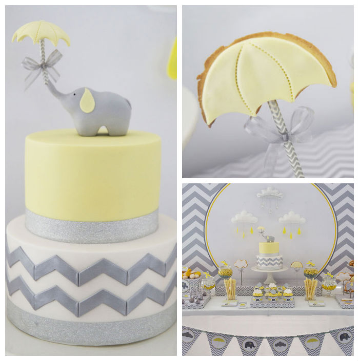 Elephant Decor Ideas: Kara's Party Ideas Grey Elephant Themed Baby Shower Via