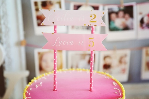 Pink Ombre + Polka Dot themed birthday party via Kara's Party Ideas KarasPartyIdeas.com Printables, cake, tutorials, recipes, favors, and more! #ombreparty #ombre #pinkombre #polkadotparty #karaspartyideas (8)