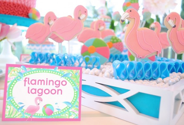 Flamingo pool party via Kara's Party Ideas KarasPartyIdeas.com Printables, cake, decor, stationery, tutorials, desserts, etc! #flamingo #flamingoparty #poolparty #summerparty #karaspartyideas (11)