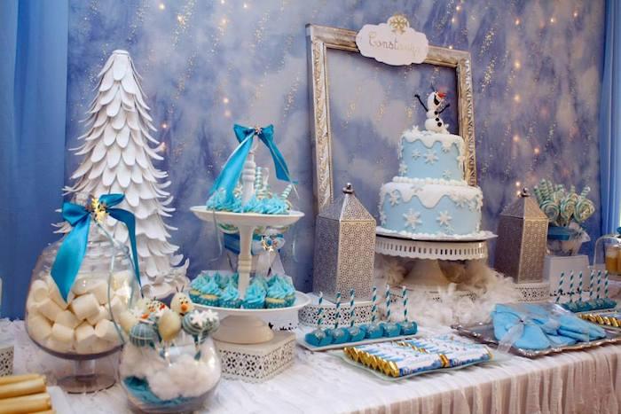 Winter Wonderland Themed Party Decoration Ideas Part - 26: ... Frozen Winter Wonderland Themed Birthday Party Via Kara S Party Ideas  Karaspartyideas Com Printables Cake · Winter Wonderland Prom Decorations ...