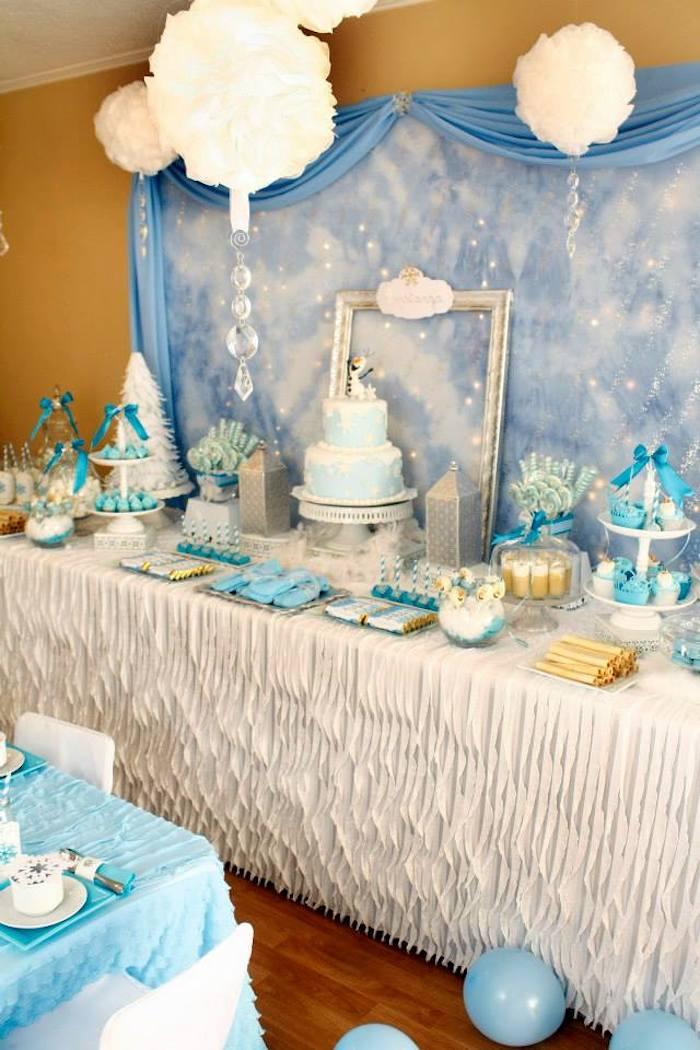 Winter Wonderland Themed Party Decoration Ideas Part - 20: ... Frozen Winter Wonderland Themed Birthday Party Via Kara S Party Ideas  Karaspartyideas Com Printables Cake ...