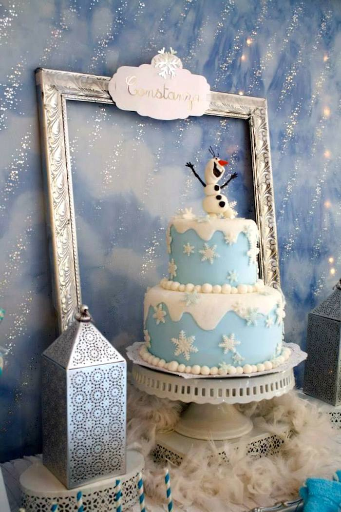 Kara S Party Ideas Frozen Winter Wonderland Themed