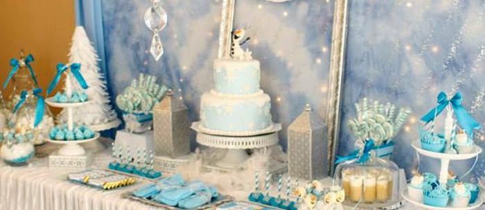 Karas Party Ideas Frozen Winter Wonderland Themed Birthday Party